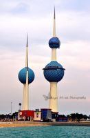Kuwait Towers by bashayer90