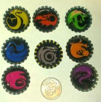 [[ FOR SALE ]] HTTYD Bottle Cap Keychains by Sakairi-chan