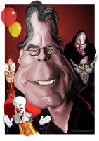 Stephen King caricature by Steveroberts