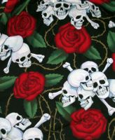 Skulls and roses by Pheno-Barbi-Doll