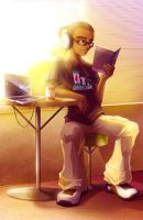 SK concept - Tristen Studying by azjazo