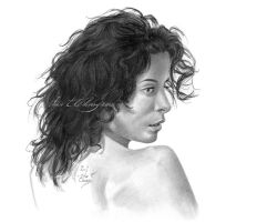 Girl with Curly Hair by miketcherry
