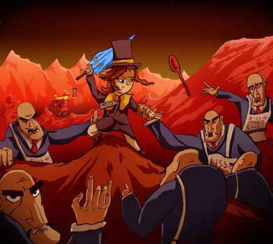 A Hat in Time - Mars Hell Level by JacketRockArt
