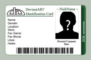 deviantART ID Card Template by Etorathu