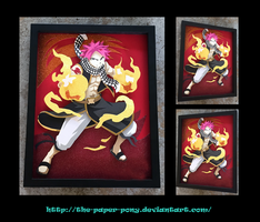 11x14 Natsu Dragneel Shadowbox by The-Paper-Pony