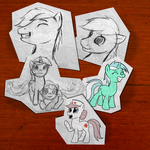 Paper Cut-out Ponies! by Acesential