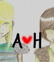 Astrid and Hiccup by lianne123