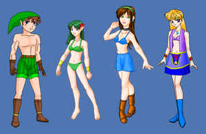 MoS- Main heroes Summer outfits by Dinalfos5