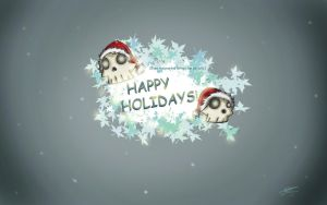 Happy Holidays Skull by TemplarOfBacon