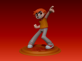 Scott Pilgrim Sculpt by UsmanHayat