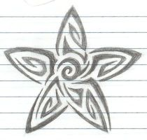 Tribal tat 1 5pt star by ChiLd-oF-fLamE