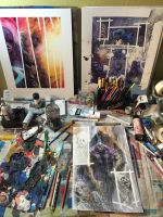 My messy work space! by LiamSharp