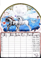 Unicorns timetable. by Sekine