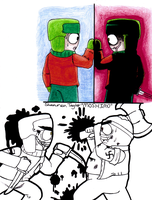 Kyle and Cartman doodles by moshimo