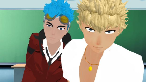 MMD RWBY - Sun and Neptune by SteamKitten000