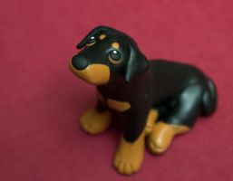 Doberman pup by SculpyPups