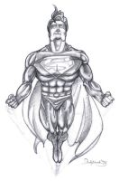 Superman Charcoal by PauloDuqueFrade