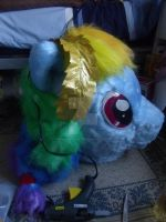 Rainbow Dash almost finished by MadHamsterCostumes