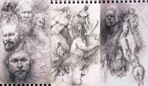 Sketching the Vikings! by The-Ronin-Artist
