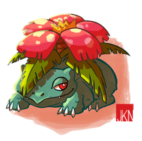 #003 Venusaur by VeloursRose