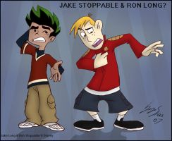 Jake Stoppable and Ron Long by Serge-Stiles