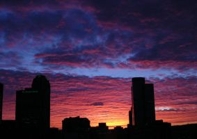 Sunrise over Pittsburgh - 1 by Pistol-packinMamma