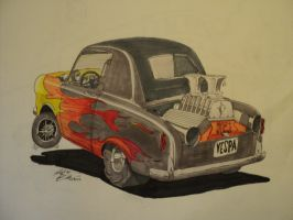 Vespa 400 hot rod by prestonthecarartist