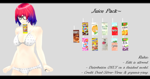 [MMD] Juice Pack DL ~ by o-DeadSilverVirus-o