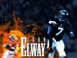 John Elway Wall by cotrackguy