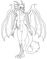 Odephris Lineart Commission by FerianMoon