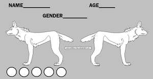 Free wolf/dog ref sheet lineart by Doctor-of-Madness