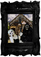Halloween American Gothic by Quoth-Raven