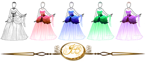 Outfit design : Elegant Princess Gown colored by JessyB-Design