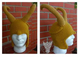 Loki Helm by TheCrochetDragon