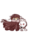 jon and ghost chibis by melinaminotti