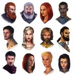 Game of thrones study faces by Dilartt