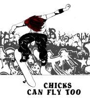 chix can fly too 2 by ArtbyBeans