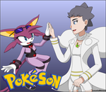 PokeSon - Cici and Diantha .:B-Day Gift:. by LucarioShirona