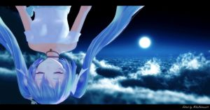 MMD - Miku TDA White Dress Moon (Edited Ver.) by MikuHatsune01