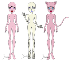 CAM Vampire, Skeleton and Catgirl base pack by ThestralWizard