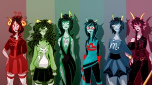 Homestuck Girls - Dancestors by KatariiinaP