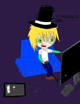 Snake Playing SH2 with Top Hat by animeyoutubefreak