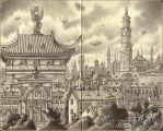 Sketchbook 13 - Taliesing City by MJWilliam