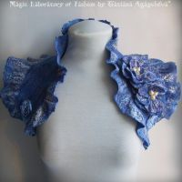 BLUE BIRDS WINGS Bolero by TianaChe