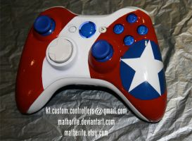 Captain America Xbox 360 Controller by matherite