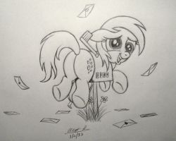 Clumsy Lil' Derpy by AleximusPrime