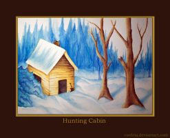 Hunting Cabin .:watercolor:. by cordria