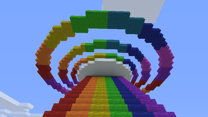 Minecraft Sonic Rainboom by gecko443
