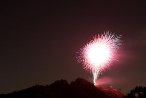Mt. Rubidoux, CA July 4th by FellowPhotographer