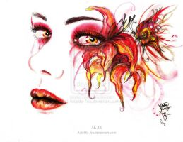 Fire Lily by Astaldo-Fea